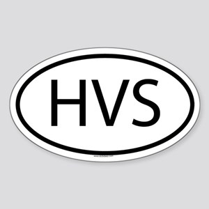 HVS Oval Sticker