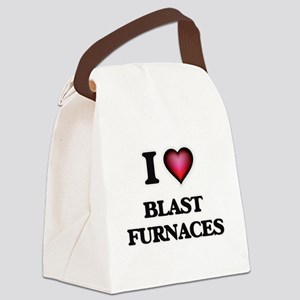I Love Blast Furnaces Canvas Lunch Bag