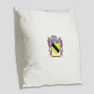 Sandoval Coat of Arms - Family Burlap Throw Pillow