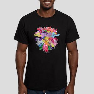 MLP Girls Rule! Men's Fitted T-Shirt (dark)