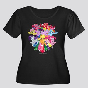 MLP Girl Women's Plus Size Scoop Neck Dark T-Shirt