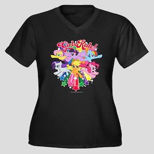 MLP Girls Ru Women's Plus Size V-Neck Dark T-Shirt