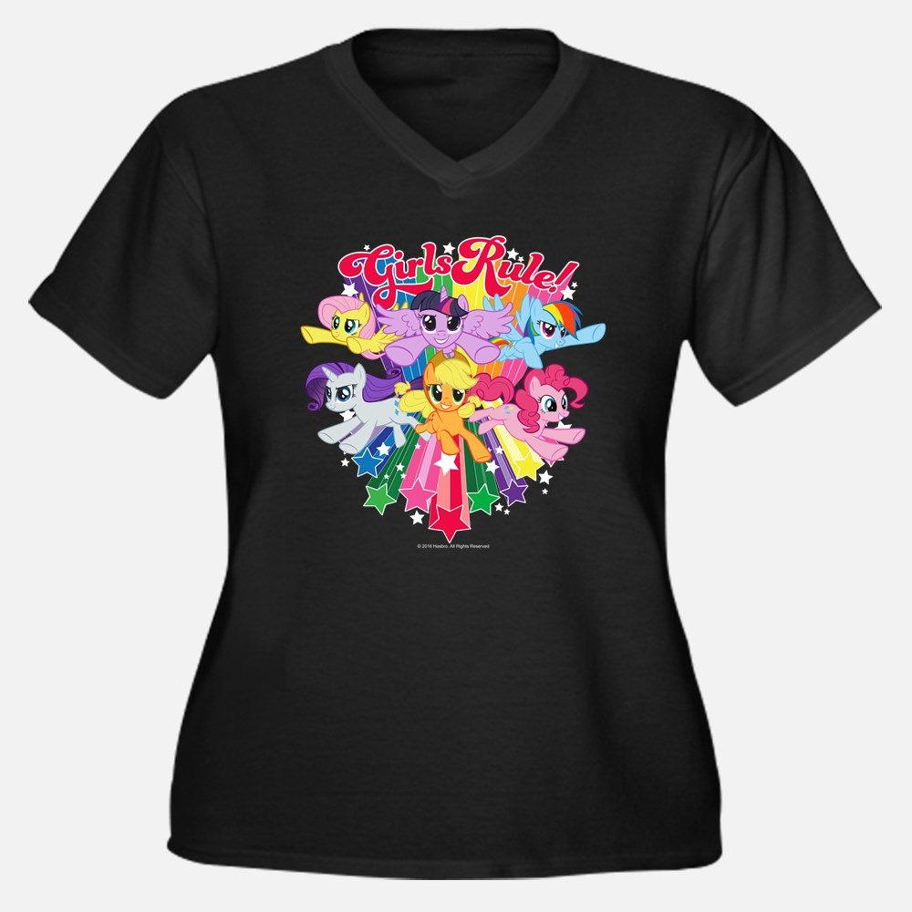 MLP Girls Rock Plus Size V-Neck T-shirt