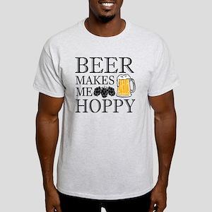 Beer Makes Me Hoppy funny saying shirt T-Shirt