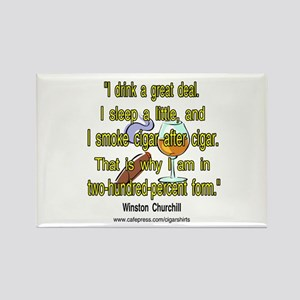 Winston Churchill Cigar Quote Rectangle Magnet