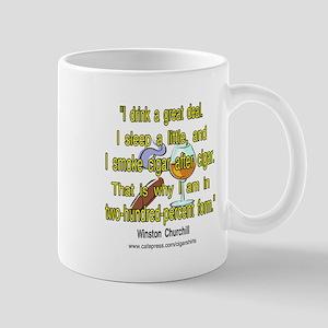 Winston Churchill Cigar Quote Mug