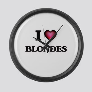 I Love Blondes Large Wall Clock