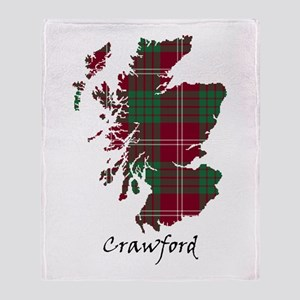 Map - Crawford Throw Blanket