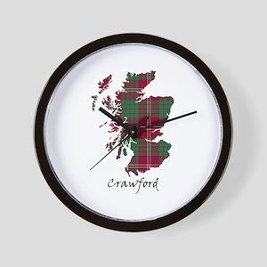 Map - Crawford Wall Clock