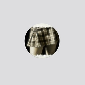 School Skirt Mini Button