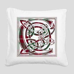 Monogram - Crawford Square Canvas Pillow