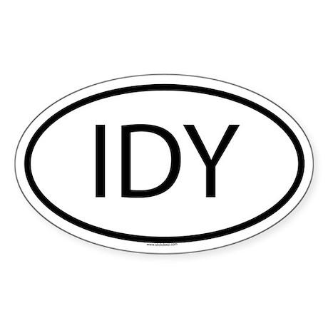 IDY Oval Sticker