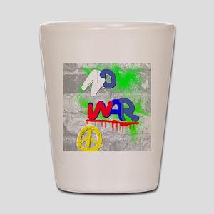 NO WAR PEACE Shot Glass