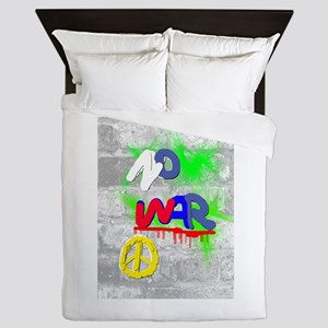 NO WAR PEACE Queen Duvet
