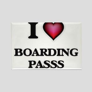 I Love Boarding Passs Magnets