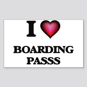 I Love Boarding Passs Sticker