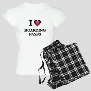 I Love Boarding Passs Women's Light Pajamas