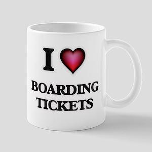 I Love Boarding Tickets Mugs