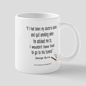 George Burns Cigar Quote Mug