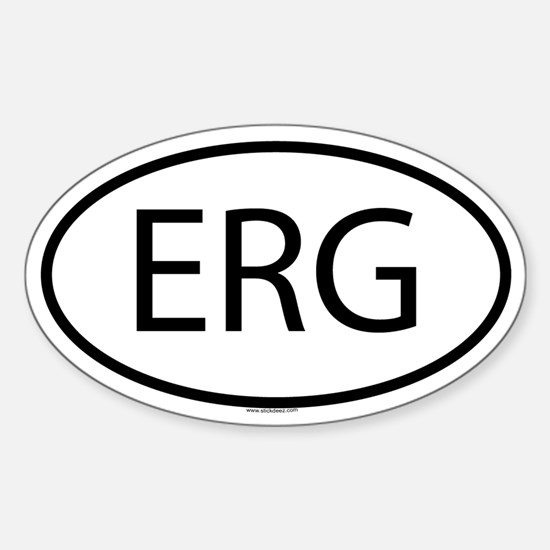 ERG Oval Decal