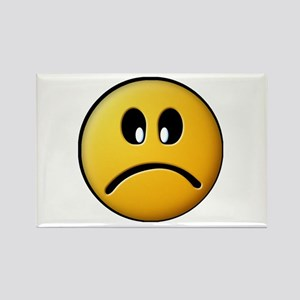 Sad Face Smiley Rectangle Magnet