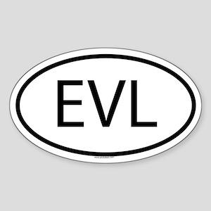 EVL Oval Sticker