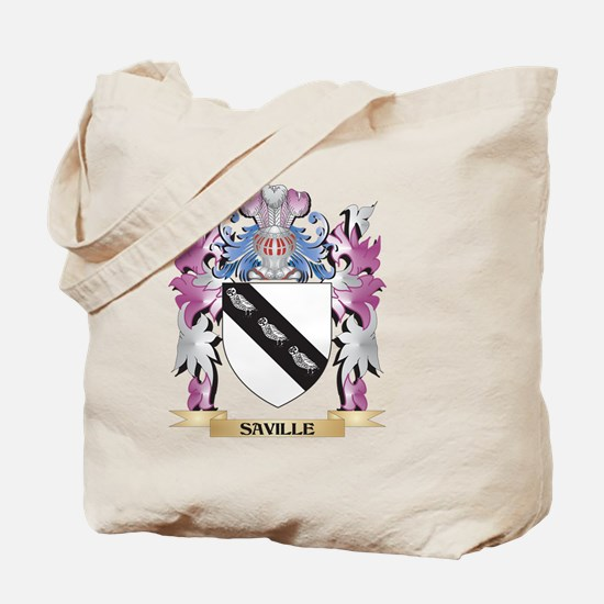 Saville Coat of Arms - Family Crest Tote Bag