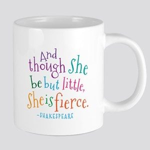 Shakespeare She Is Fierce Quote Mugs