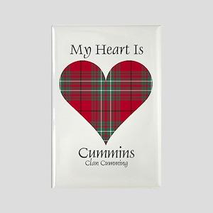 Heart-Cummins.Cumming Rectangle Magnet
