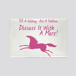 Discuss It With A Mare! Rectangle Magnet