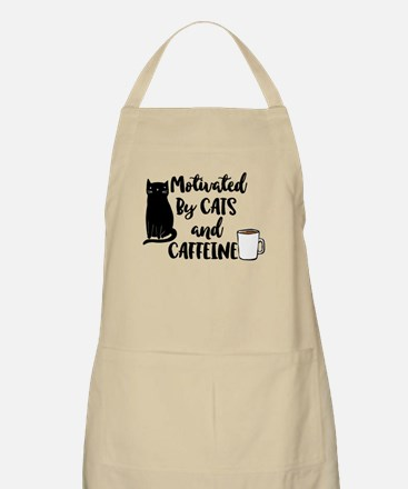 Motivated by cat and Caffine Apron
