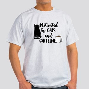 Motivated by cat and Caffine T-Shirt