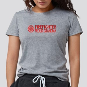 Firefighter: Proud Grandma (F Women's Dark T-Shirt