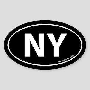 New York NY Auto Sticker -Black (Oval)
