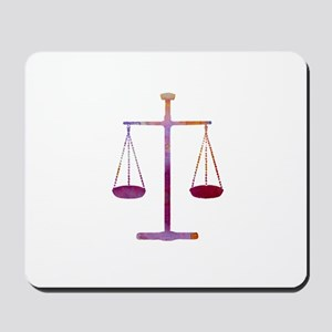 Scales of justice Mousepad
