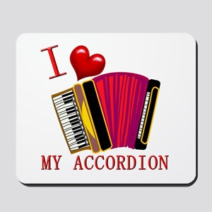 I Love My ACCORDION Mousepad