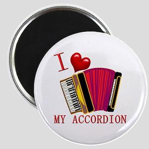 I Love My ACCORDION Magnet
