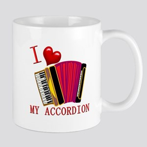 I Love My ACCORDION Mug