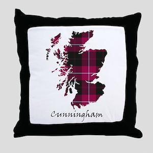 Map - Cunningham Throw Pillow