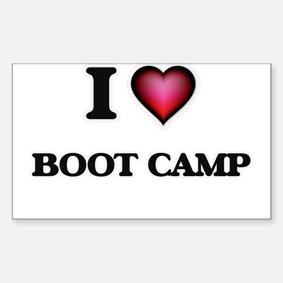 I Love Boot Camp Decal