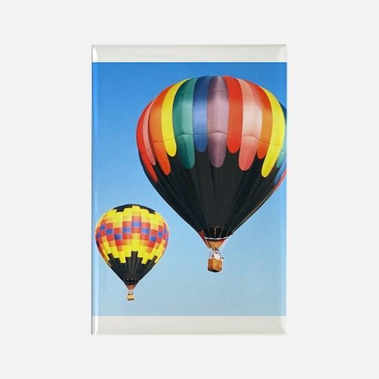 Cute Love hot air ballooning Rectangle Magnet