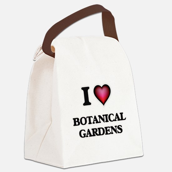 I Love Botanical Gardens Canvas Lunch Bag