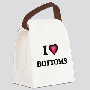 I Love Bottoms Canvas Lunch Bag