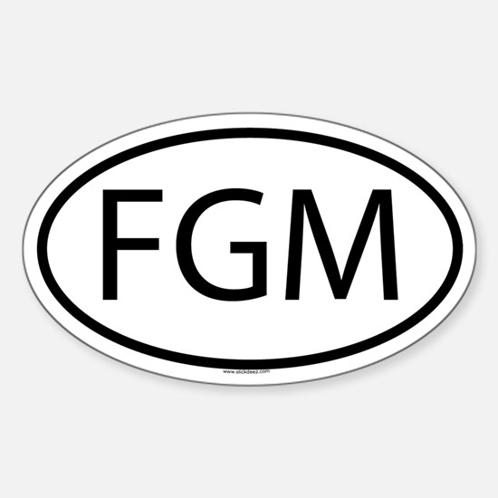 FGM Oval Decal