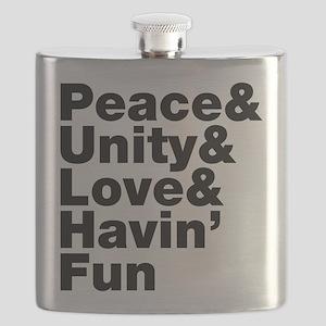 Peace & Unity & Love & Havin Fun Flask