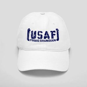 Proud USAF Grndson - Tatterd Style Cap