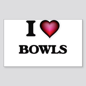 I Love Bowls Sticker