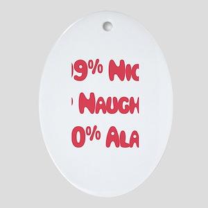 Alana - 1% Naughty Oval Ornament