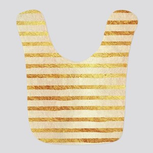 Faux Light Gold Foil Glitter Pa Polyester Baby Bib