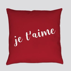 Je T'aime Everyday Pillow